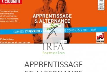 salon de l'apprentissage et alternance avec IRFA